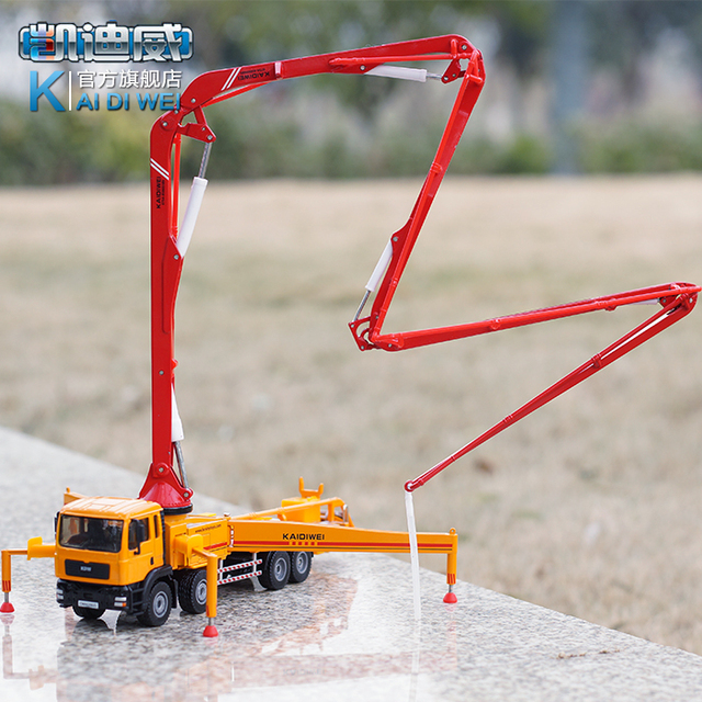2016 latest metal alloy truck models Kaidi Wei 1:55, concrete pump car models Toys for children over 3 years old