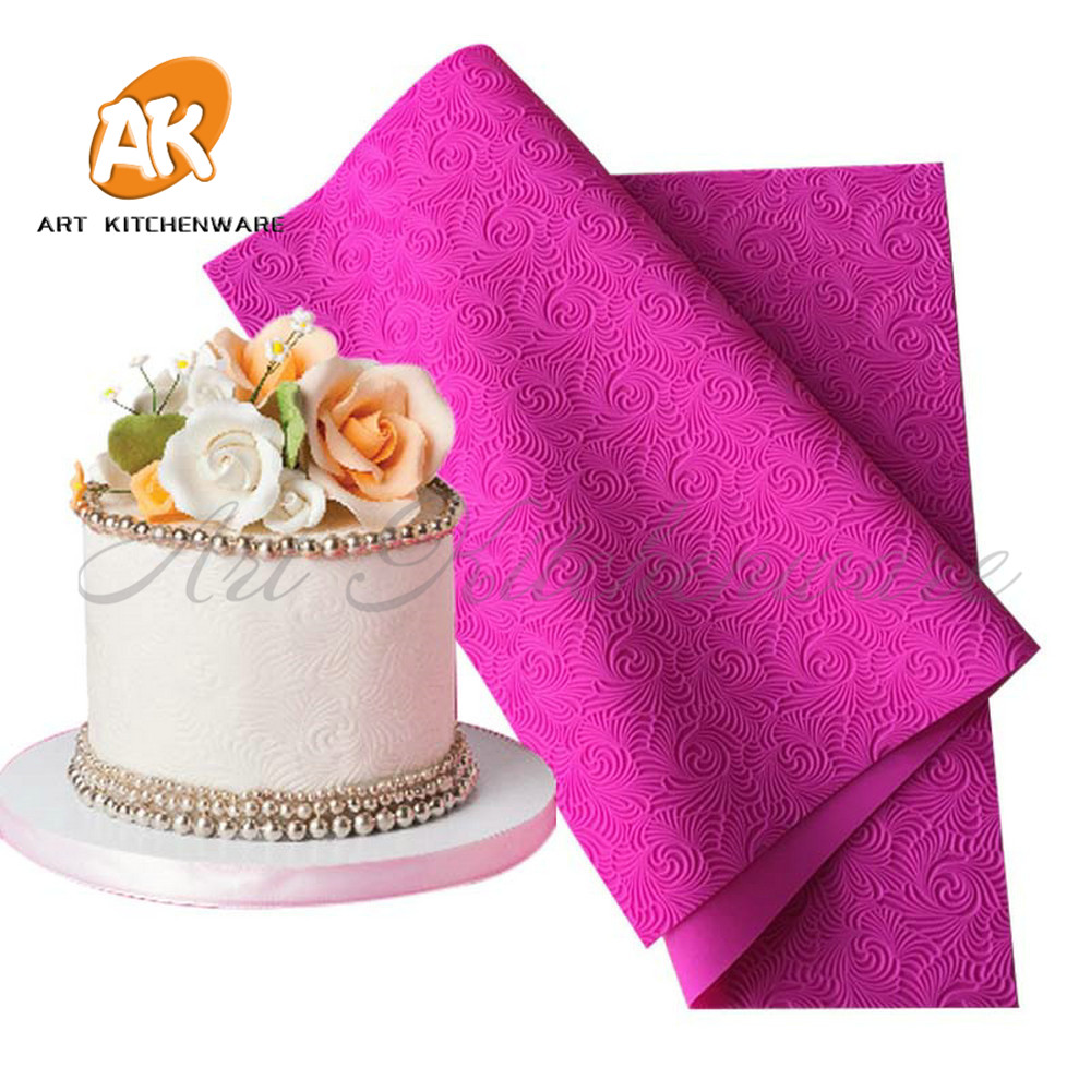 New Arriv Fondant Mould Lace Mat Impression Mats Silicone Lace Mat Cake Lace Mold Silicone Sugar