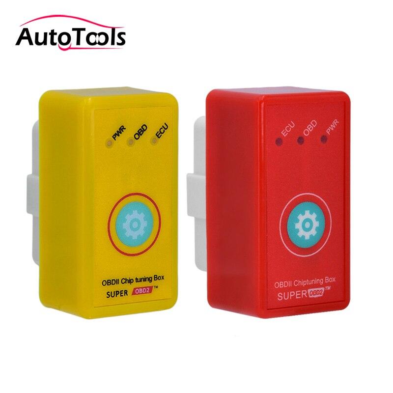 Super Poder Prog obd2 Mais Torque Do Que Nitro Poder OBD Tuning Chip Box  Para Diesel Plugue Do Carro Com O Botão de Reset e Unidade