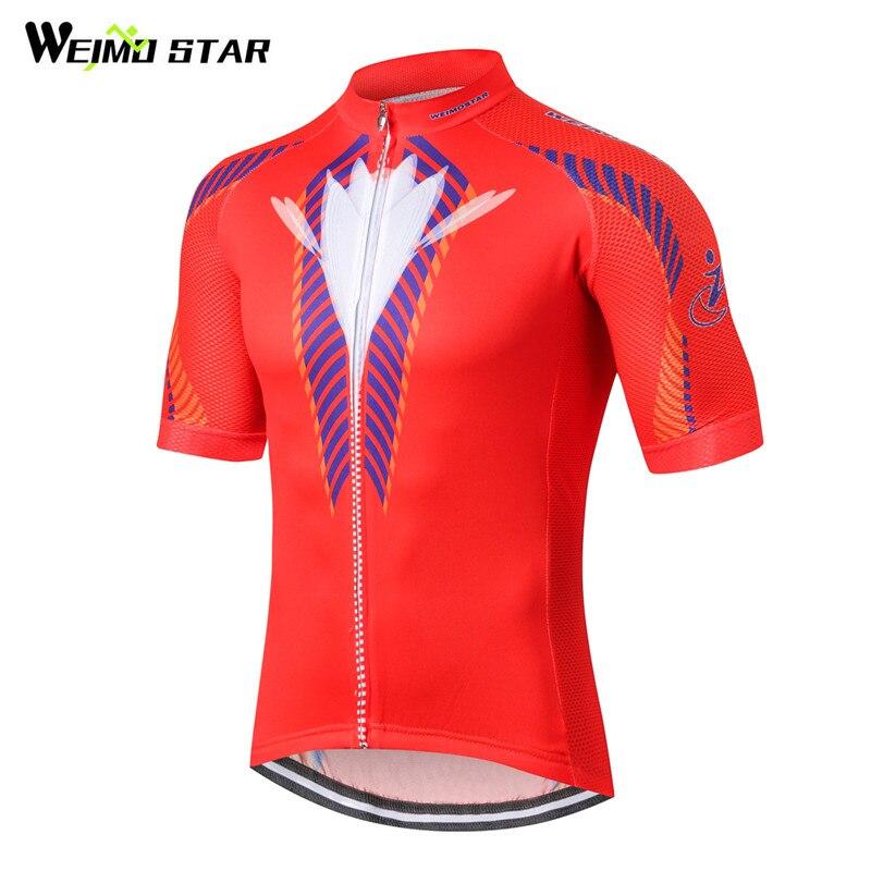 Weimostar 2018 Cyklistika Oblečení pro Racing Sportovní Cyklistický dres Léto Krátké Cyklistika Jersey Horská mtb Cyklistické oblečení Ciclismo