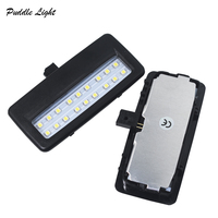 led white car 2X 18smd black LED vanity mirror lamp For BMW F10 F11 F07 F01 F02 F03 Led reading lights bulbs Car-styling auto parts White (4)
