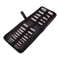 15pcs Punch Leather Tool Puncher Hole Craft Set Hollow Puncher Belt Stitching Punches