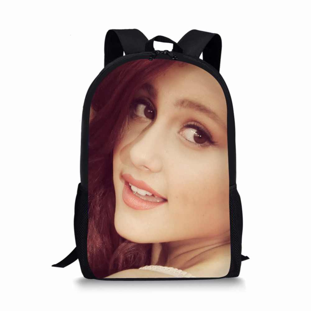 d837b7d40021a5 ... Famous star Ariana Grande Backpacks School bags schoolbag satchel for  girls kids students child mochila escolar ...