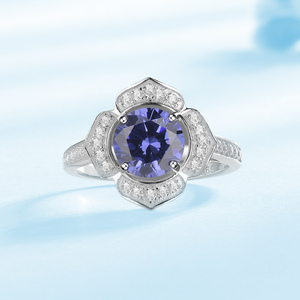 Image 3 - Kuololit Classic Tanzanite Ring Solid 925 Sterling Silver Rings For Women Brand Fine Jewelry Engagement Women Gift