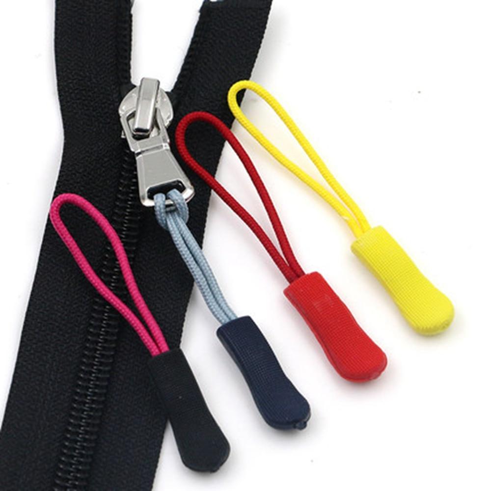 10pcs Tactical Zipper Pull Cord Zip Puller Zip Fastener Replacement Black
