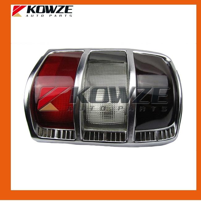 Silver Tail Rear Combination Lamp Light Narrow Frame For Mitsubishi Pajero Montero Shogun 2 II 1990-2004 MB831088 MB831089
