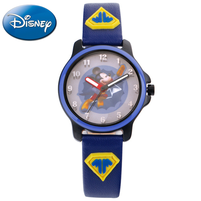 Super flying Mickey mouse cartoon Children dream watch Boy cool fashion casual quartz watches Cute love hopes Disney 14015 clock
