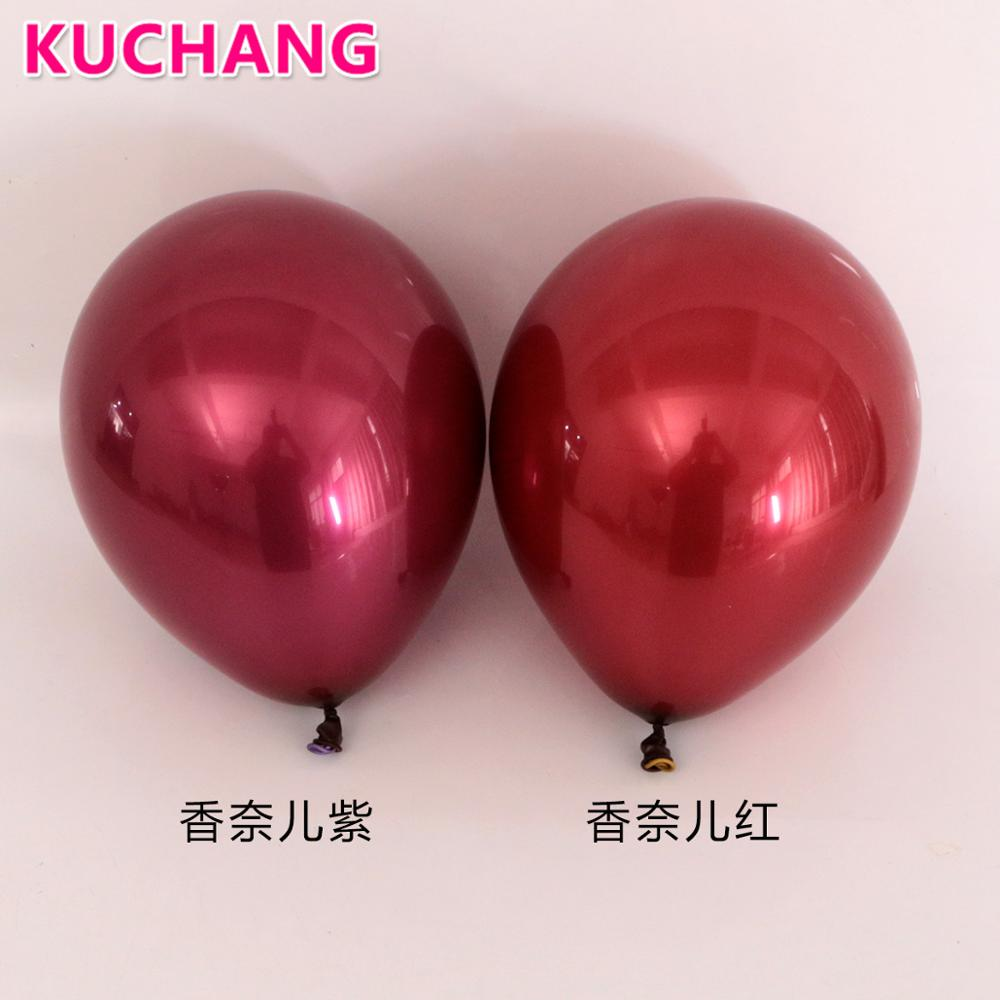 10PCS 10inch Double layer Burgundy Red Purple Latex Balloon Metallic Red Gem Wedding Birthday Party Decorations Valentine's Day