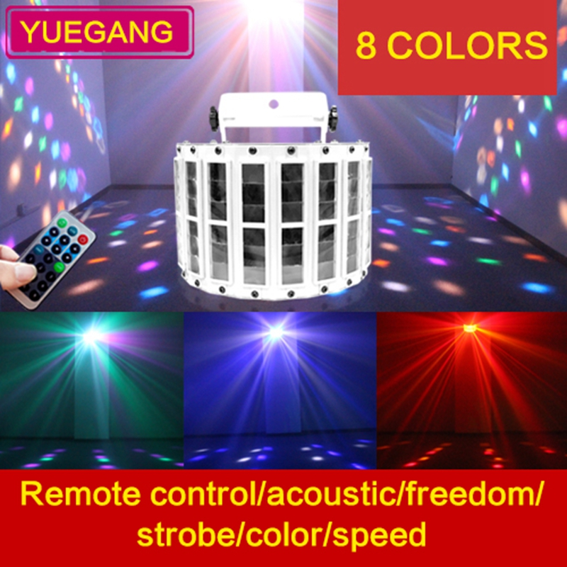 latest remote control color led butterfly light voice control bar KTV stage lighting Wedding  light flash keyshare dual bulb night vision led light kit for remote control drones