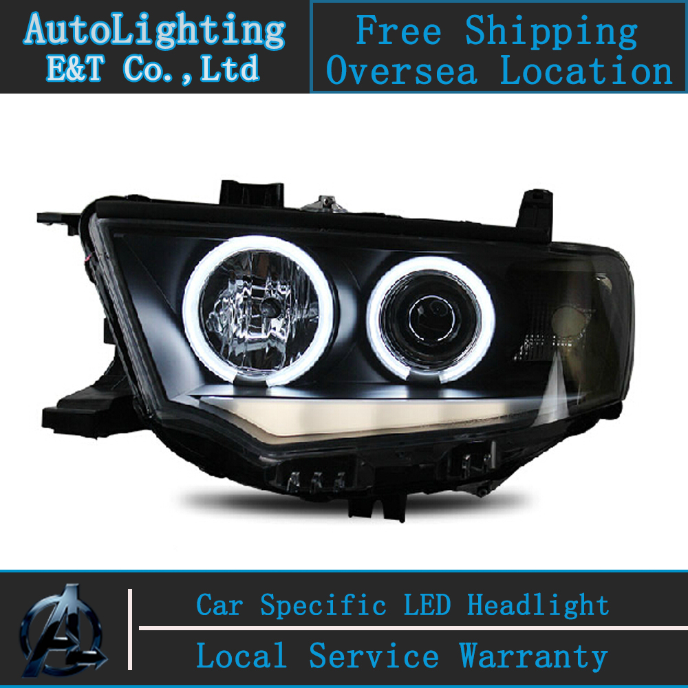 Car Styling For Mitsubishi Pajero headlights 2000-2012 Pajero V73 led headlight drl turn signal drl H7 hid Bi-Xenon Lens car styling for mitsubishi pajero headlights 2000 2012 pajero v73 led headlight drl turn signal drl h7 hid bi xenon lens