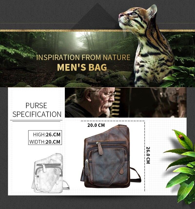 ocasional sacolas de homens homensageiro Color : Dark Coffee, khaki, brown