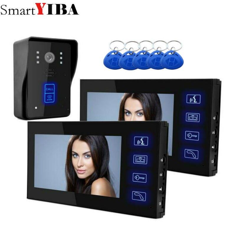 SmartYIBA 7 TFT Цвет видео домофон дверной звонок Системы комплект ИК Камера монитор домофона громкой связи домофон