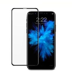 Image 2 - 2 個防塵のための iphone × iphone 11 強化ガラス 3D フル画面プロテクターフィルムのための iphone 11 プロ 11Pro 最大