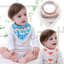 2016 Creative Novelty Triangle Cotton Towel Baby Bib Slobber Double Baby Burp Cloth Fox Dot Saliva Towel Children's Accessories