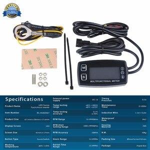 Image 5 - Stunde Meter LED Tacho Thermometer Temperatur Meter für Benzin Marine Außenborder Motorschirm Trimmer Grubber Pinne 035LT