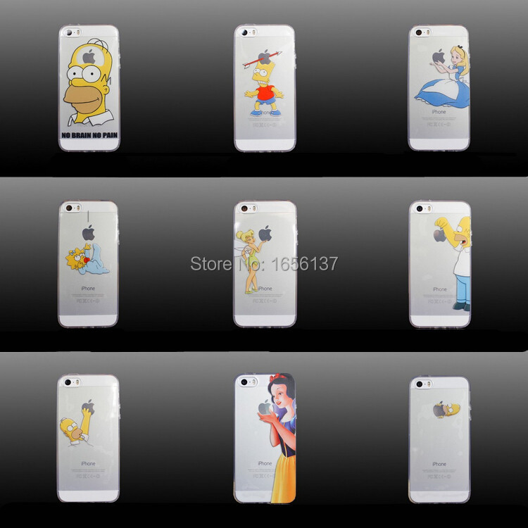 official photos a5a34 18113 2016 New arrive 16 stylel For iPhone 5 for iPhone 5s case Transparent Snow  White Hand grasp the logo cell phone cases covers-in Phone Cases from ...