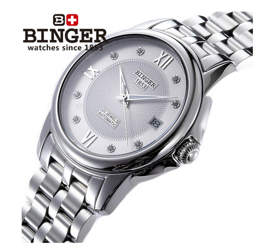 Switzerland men's watch luxury brand Wristwatches BINGER 18K gold Automatic self-wind full stainless steel waterproof B-1102G-3 switzerland men s watch luxury brand wristwatches binger luminous automatic self wind full stainless steel waterproof bg 0383 7