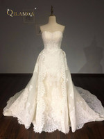 100 Real Picture Lace Wedding Dresses 2016 Hand Beading Long Bridal Gowns Sexy Backless Bridal Gown