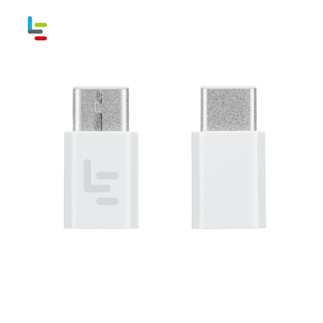 LeEco Original High Quality White New Adapter Micro USB to Type-C Type C Adapter Cable Connector ABS inserted from Both Side