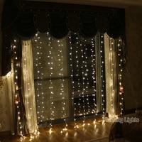 3M X 3M 300 LED Xmas String Fairy Curtain Garlands Strip Party Lights Christmas Decorative Wedding