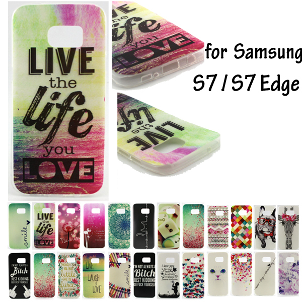 22 Funny Words SM-G930F / SM-G935F Cases Silicon Gel Cover for Samsung Galaxy S7 S7edge Case TPU Funda for Galaxy S7 /S7 Edge
