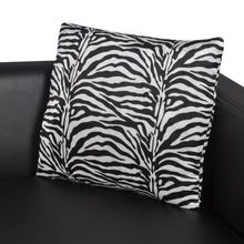 vidaXL Artificial Leather 3-Seater Sofa Black