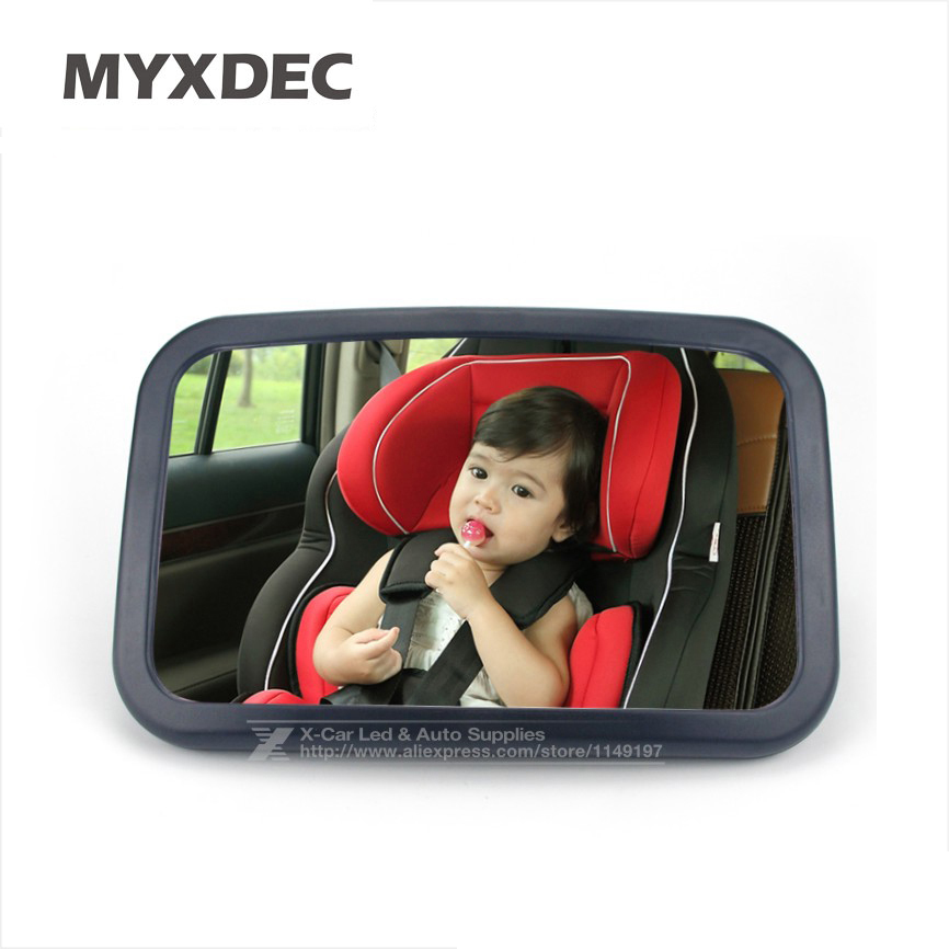 360 Degree Adjustable Car Back Seat Mirror Baby Facing Rear Ward View Headrest Mount Mirror Square Safety Baby Kids Monitor