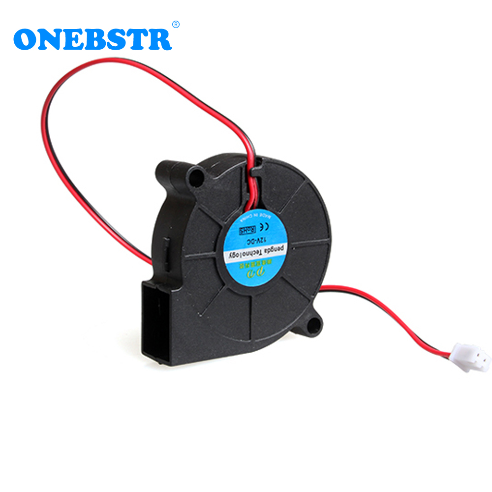 DIY 5015 Cooling Fan 12V 0.15A Turbo Fan For 3D Printer Accessories 50x50x15mm(50*50*15mm) )with 2.54 Interface Free Shipping