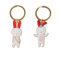 SANSUMMER New Style Fashionable Alloy Plating Animal Casual Cartoon Rabbit Sweet Romantic Key Fastener Gifts For Women 6605