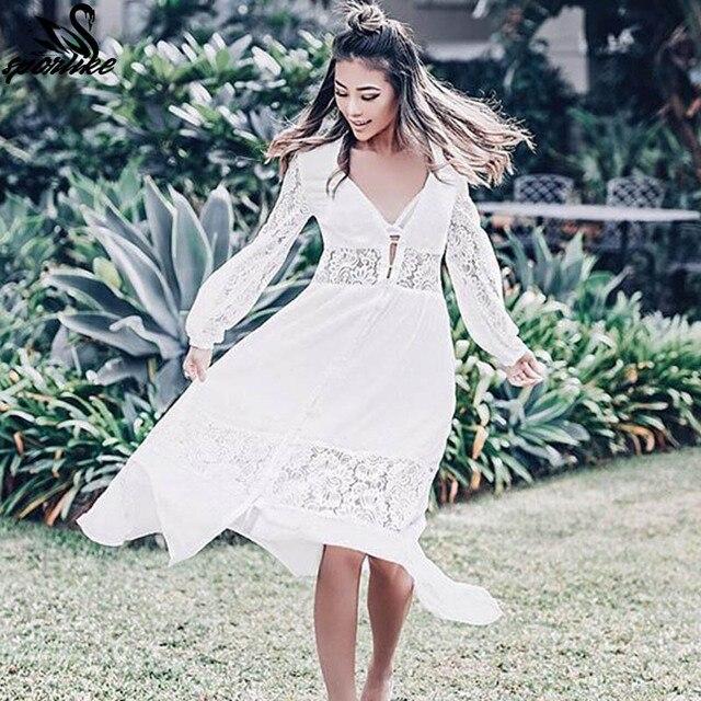 fe261042aa 2019 Summer Women Beach Wear Cover-ups White Cotton Tunic Bikini Wrap Skirt  Swimsuit Cover Up Bath Dress Sarong plage pareo