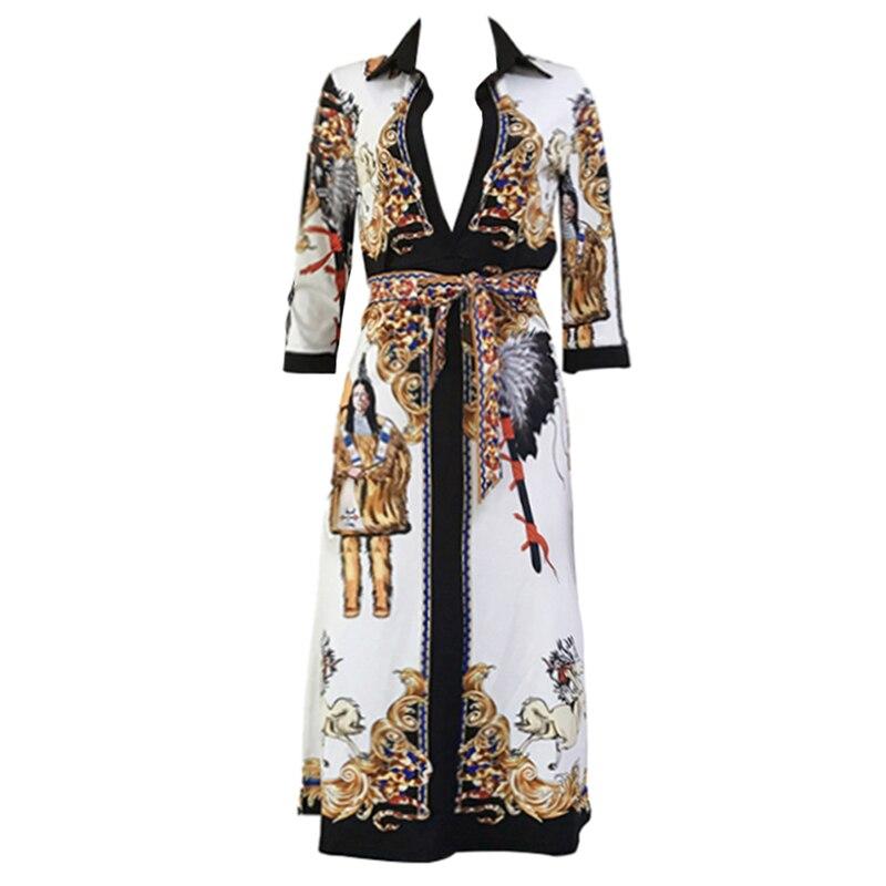 MITCOWBOYS Womens Dashiki Vintage African Print Dress Kaftan Traditional Mid-Length Mini Dress Classic V-Neck Half Sleeve Color Matching Pullover