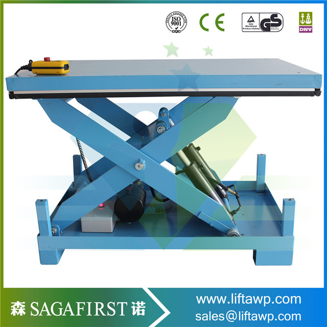 CE 1 Ton Static Scissor Lift Table For Lifting Cargo Pallet Lifter