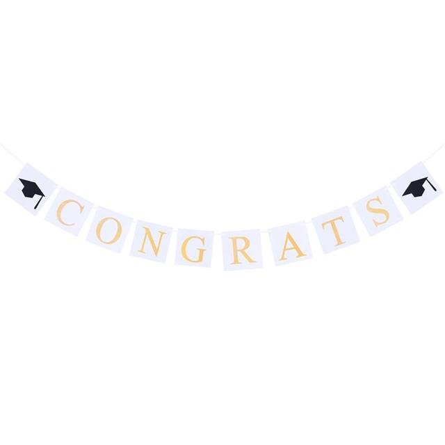 3m graduation decorative bunting banner congratulations sign with