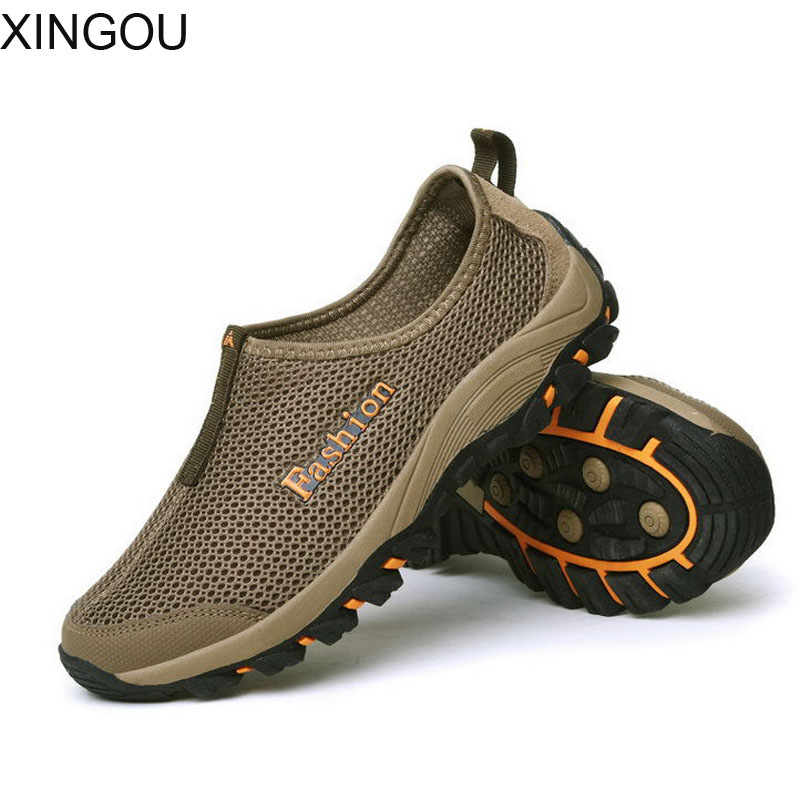 New summer sandals men casual shoes breathable mesh net outdoor wading mountaineering shoes men's Sandals tide new breathable crystal jelly net shoes bird nest woman sandals summer casual fashion shoes