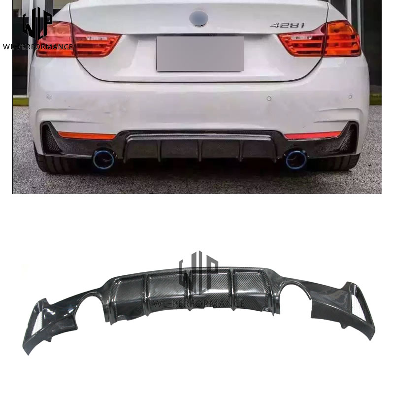 Carbon Fiber Rear Bumper Diffuser Protecter for BMW F32 F33 F36 4 Series 420 428 435 440i with MT Modification kit 14 up|Bumpers| |  - title=