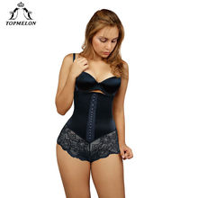 fd6d0f6df0ffb TOPMELON Corset Modeling Strap Bodysuit Waist Trainer Slim Shapewear Butt  Lifter Body Shaper Lace Mesh Transparent Underwear