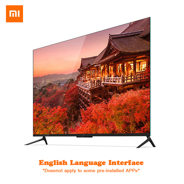 Xiaomi TV 4 55 inch Real 4K Smart 4.9mm Ultra-thin TV 2GB+8GB Memory Support full format playback Dolby sound  DTS-HD