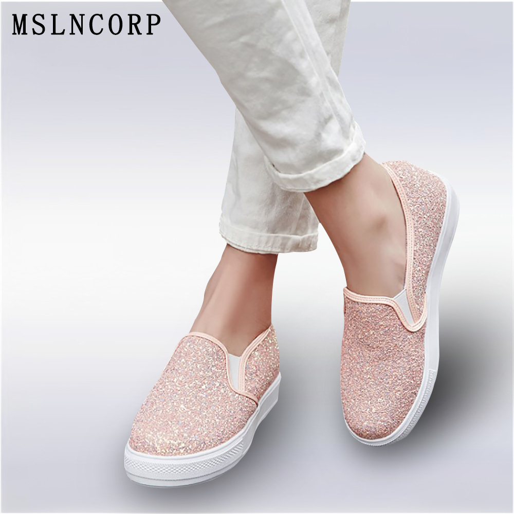 Plus size 34-44 new Fashion heavy-bottomed shallow mouth of Flats shoes Platform Bling women shoes casual pedal Loafers Shoes 2018 new arrivals women flats shoes fashion bling women flats platform loafers lace up women casual shoes black