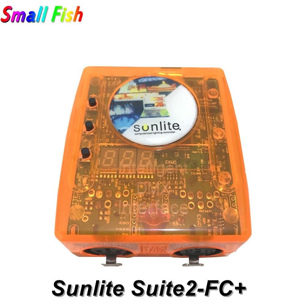 Logiciel de contrôle de scène professionnel Sunlite Suite 2 FC contrôleur de DMX-USD DMX bon pour DJ KTV Party LED lumières 1536 canaux