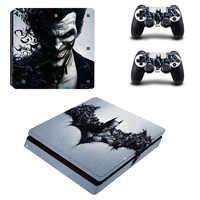 Joker Autoadesivo Del Vinile Per PS4 Sottile Per Sony Playstation 4 Slim Console + 2 controller Autoadesivo Della Pelle Per PS4 S della pelle