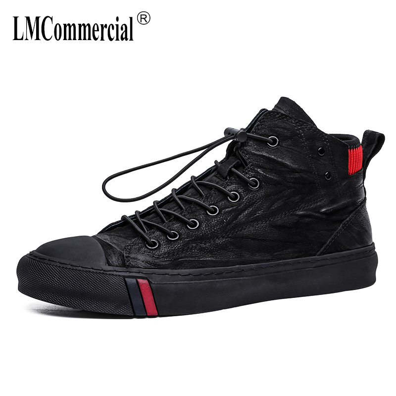 Men's Genuine Leather boots all-match cowhide British reto Martin boots men men's casual high-heeled shoes breathable sneaker british high fashion leather shoes breathable sneaker fashion boots men casual shoes handmade fashion