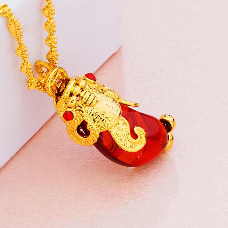 OMHXFC Оптовая Продажа Европейская мода женская унисекс подарок на день рождения Павлин капли воды из опала 24KT настоящее золото Шарм Кулон PN259