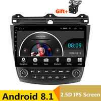 10 2.5D IPS Android 8.1 Car DVD Multimedia Player GPS For Honda Accord 7 2003 2007 2004 2005 2006 audio radio stereo navigation