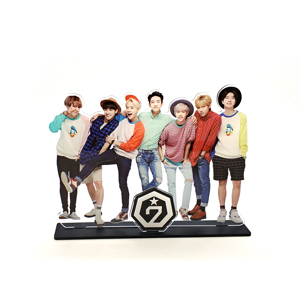 Love Thank You GOT7 KPOP stars group family acrylic stand figure model plate holder cake topper idol
