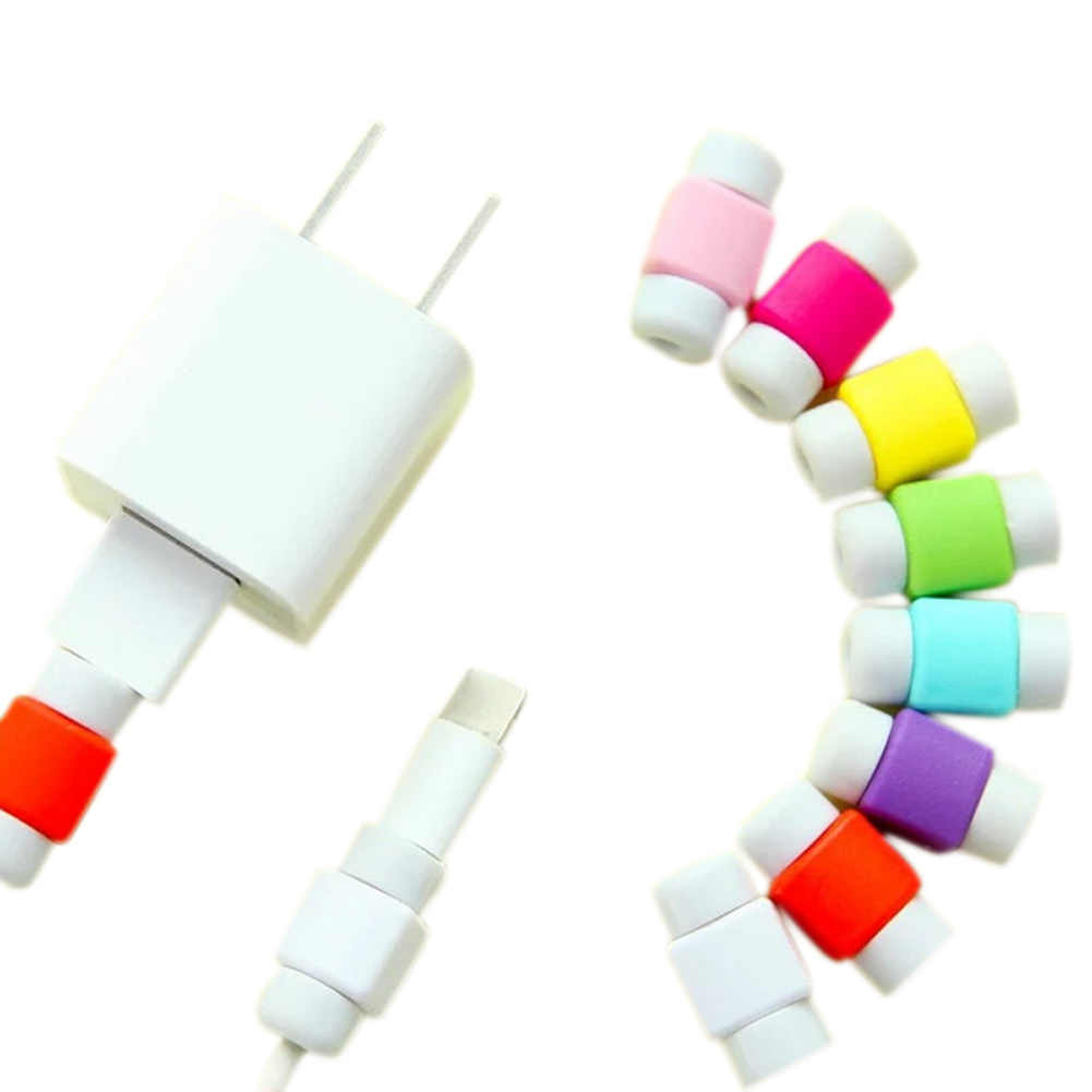 10Pcs/Set Mini USB Cable Protector for iPhone 6/7/Plus iPad Data Earphone Cables Protected Cover Random Color NK-Shopping