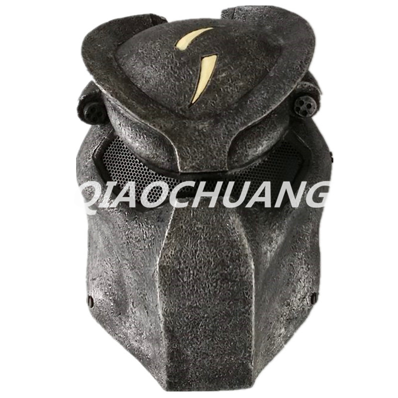 Alien vs Predator Mask Breathable Full Face Mask Predator Helmet Halloween Cosplay Horror Helmet Alien Halloween Props Boxed hellboy mask breathable full face mask kroenen helmet halloween cosplay horror helmet karl ruprecht kroenen halloween props w153