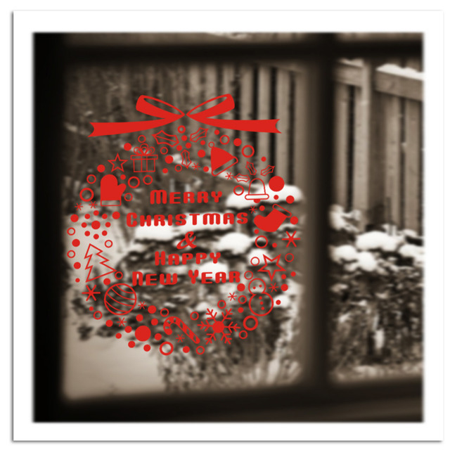 Neige De Noël Arbre Campanula Stickers Muraux Accueil Salon Fenêtre