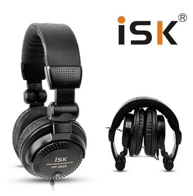 Original ISK HP-960B Headband Headphone Auriculares Studio Monitor Dynamic Stereo DJ Headphones HD Headset Noise Isolating