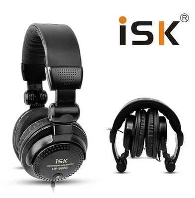Оригинальный ISK HP-960B оголовье наушников Auriculares Studio мониторы динамический стерео DJ наушники HD гарнитура шум изоляции