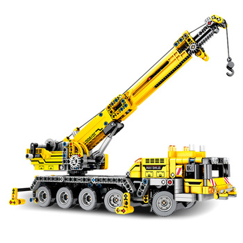 SEMBO 701800 Mobile Crane MK II Sets Building Blocks Bricks Educational Technic series Technique Compatible 42009 image